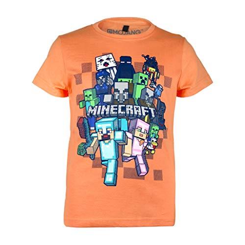 Minecraft Character Group Camiseta de los Muchachos Naranja 104