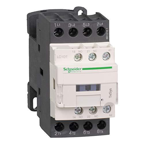 Schneider Electric LC1DT32BL TeSys D, Contactor, 4P(4 NA) AC-1, 440 V 32 A, bobina bajo consumo 24 V CD
