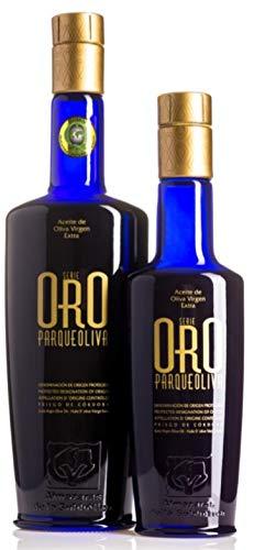 SERIE ORO Parqueoliva. Aceite de Oliva Virgen Extra DOP Priego de Córdoba. Caja 9 botellas x 250ml