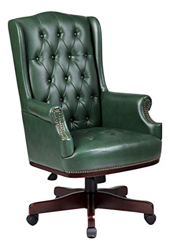 Managers Directors Chesterfield Captain Bonded Leather Office Desk Chair Furniture