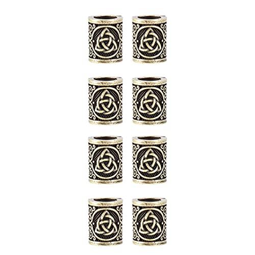 FRCOLOR ¿8 Uds? Rastas de Vikingo Cuentas de Metal Puños para El Cabello DIY Pendientes de Botón Pendientes de Joyería Pinzas para El Pelo Trenzadas para Trenzar El Cabello Accesorios de