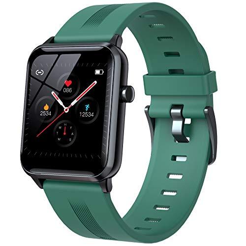 WSJZ Reloj Inteligente para Mujeres/Hombres,Pulsera Inteligente con Pantalla Táctil Completa De 1,4',Rastreadores De Fitness con 24 Modos Deportivos E Impermeables,para Teléfono Android/iOS,Verde