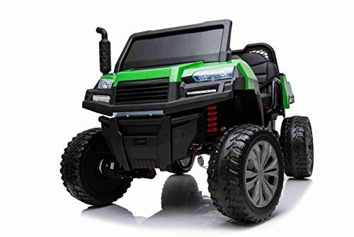 Elektroauto Rider 4X4 mit Allradantrieb, 2x12V-Batterie, Eva-Rädern, Aufhängung, 2,4-GHz-Fernbedienung, Zweisitzer, MP3-Player mit USB / SD-Eingang, Bluetooth