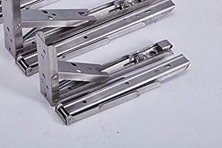 2x stabiele inklapbare scharnieren, rekhoek, klaphoek, roestvrij staal, inklapbaar, met hoge belastbaarheid in verschillen...