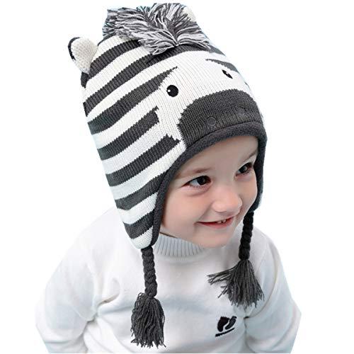 Tyidalin Sombreros Niño Infantil Bebé Invierno Orejeras Earflap Casquillos Punto Ganchillo Animales Beanie Gorra Caliente