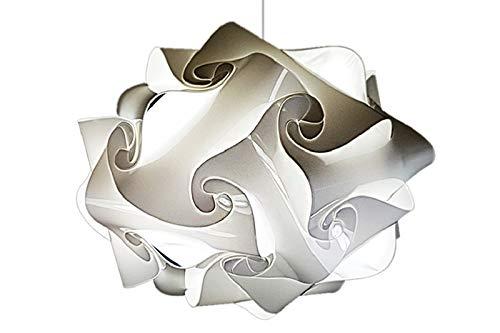 Lampadario Design bagno moderno UFO 50x35 cm Lampada a sospensione per soffitti bassi ingresso corridoio entrata cucinino sala salone Bianco elegante