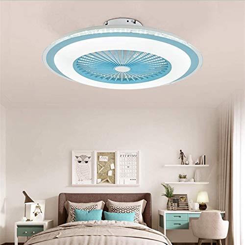XXCC Luces De Ventilador LED, Ventilador Ajustable De 80W, Iluminación Silenciosa, Control Remoto De Lámpara, Luz De Techo Moderno Dimmable Velocidad De Viento Dormitorio para Niños (Color : Blue)