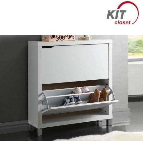 Kit Closet Zapatero kubox, Cerezo, 3 Puertas