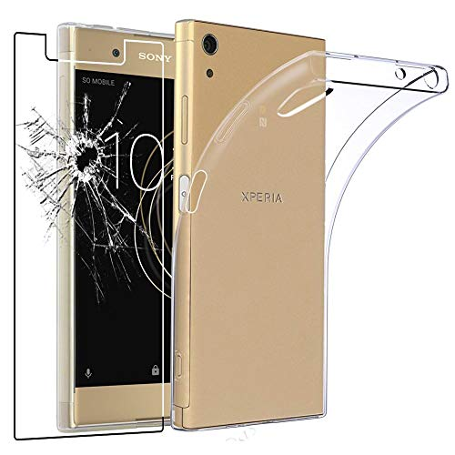 ebestStar - kompatibel mit Sony Xperia XA1 Plus Hülle XA1 Plus/Dual Handyhülle [Ultra Dünn], Durchsichtige Klar Flex Silikon Schutzhülle, Transparent +Panzerglas Schutzfolie [Phone:155x75x8.7mm 5.5