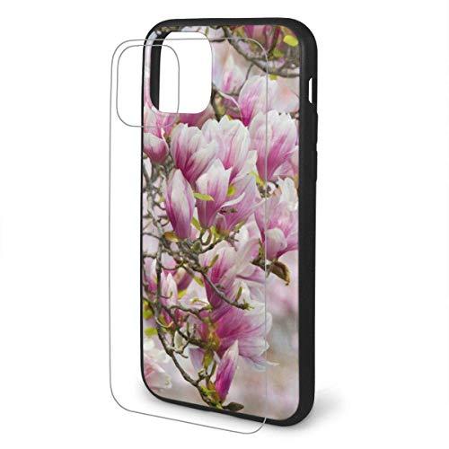 DAWN & ROSE Beautiful Orchids iPhone 11 TPU Glass Phone Case Series Carcasa a prueba de golpes y arañazos para iPhone 11 Pro Max