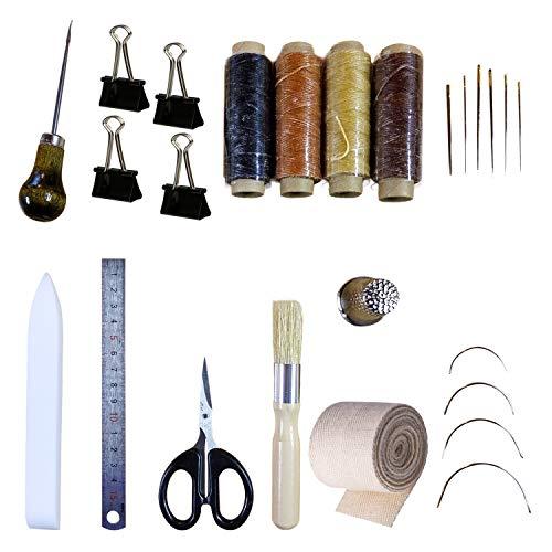 Crafty Gnome Bookbinding Kit with Teflon Bone Folder – 25 Piece Bookbinding Starter Tool Set – Bookbinding Supplies – DIY Book Making Accessories – Materials – Comprehensive Set