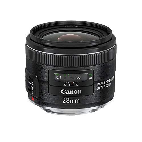 Canon Weitwinkel Objektiv EF 28mm F2.8 IS USM für EOS (Festbrennweite, 58mm Filtergewinde, Bildstabilisator, Autofokus) schwarz