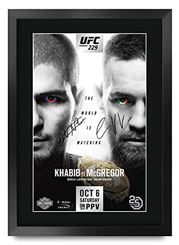 HWC Trading Ufc 229 Fight Gifts Chabib Noermagomedov Vs Conor Mcgregor Printed Image Autograph Voor Fans Ufc Souvenirs…