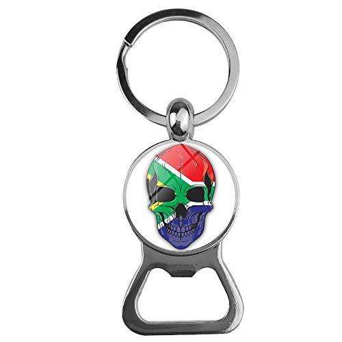 NANA318 Flag Schädelöffner Bieröffner Creative Keychain Opener Südafrika_Bier Flaschenöffner Schlüsselbund
