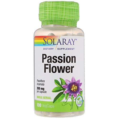 Solaray, (3 Pack) Passion Flower, 350 mg, 100 VegCaps