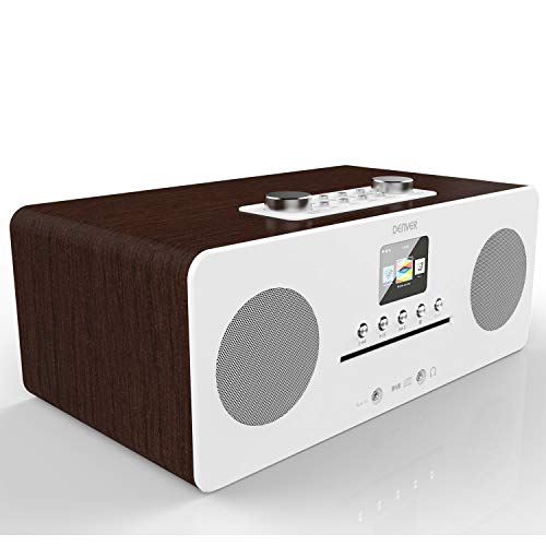 Denver MIR-260 Reproductor de CD, radio digital DAB+ y WiFi a Internet – con radio FM, Bluetooth 5.0, entrada auxiliar, pantalla a color de 2,4' y mando a distancia