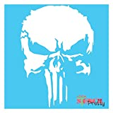 The Punisher Stencil - Scary Horror Skeleton Skull Template Best Vinyl Large Stencils for Painting on Wood, Canvas, Wall, etc.-S (10' x 14')| Brilliant Blue Color Material