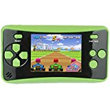 HigoKids Portable Handheld Games for Kids 2.5' LCD Screen Game Console TV Output Arcade Gaming Player System Built in 182 Classic Retro Video Games Birthday for Your Boys Girls (Green)