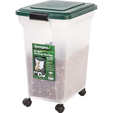 IRIS Remington Airtight Pet Food Storage, 42-Pounds, Hunter Green
