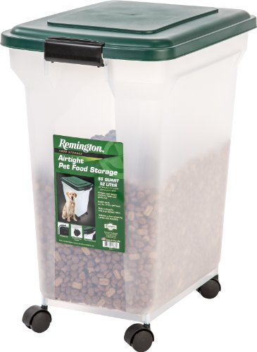 IRIS Remington Airtight Pet Food Storage, 42-Pounds, Hunter Green