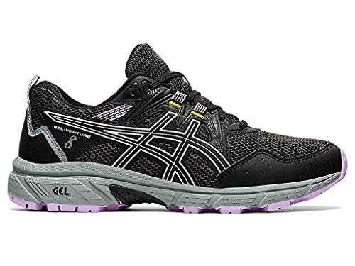 ASICS Women's Gel-Venture 8 Running Shoe, 9, Black/Ivory