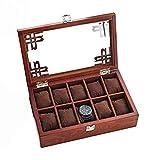 FGDSA Caja de tocador de Madera Creativo Simple Retro Reloj baratijas Pendientes Caja de Almacenamiento Caja de Acabado Caja de Reloj Moda