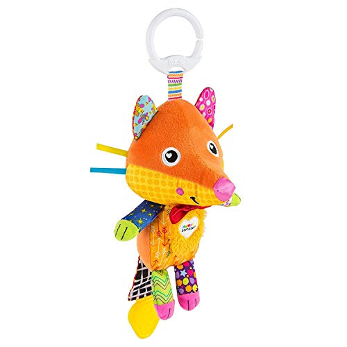 LAMAZE, Flannery the Fox Baby Toy Clip On Baby Pram Toy Pushchair Toy with Baby Teether Newborn Sensory Toy for Babies Boys Girls From 0-6 Months, Multi