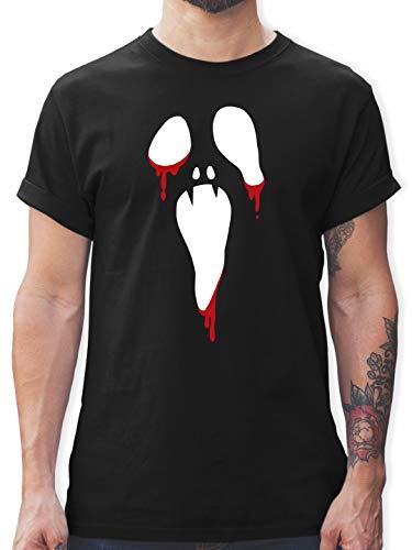 Halloween - Scream Halloween - M - Schwarz - Halloween t-Shirt Herren - L190 - Tshirt Herren und Männer T-Shirts