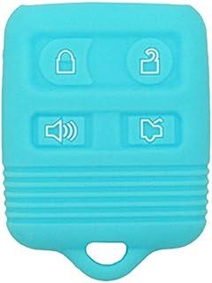 SEGADEN Silicone Cover Protector Case for Ford Lincoln Mercury 4 Button Remote Key Fob CWTWB1U345 CWTWB1U331 GQ43VT11T CV9705 Light Blue