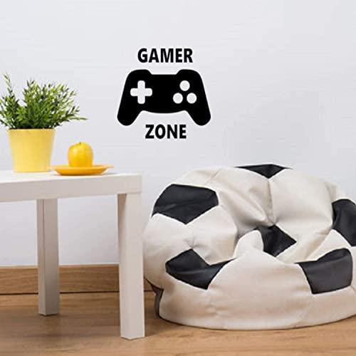 EmmiJules Wandtattoo Gamer Zone - Made in Germany - in verschiedenen Größen - Junge Spielzimmer Playstation XBox Konsole PC Kinderzimmer Wandaufkleber Wandsticker (25cm x 25cm, schwarz)