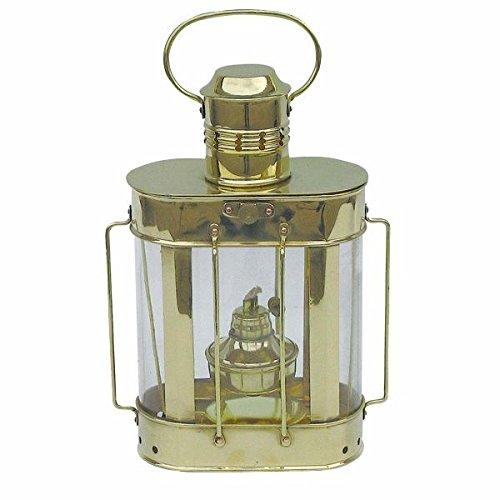 Petroleumlampe Kabelgattslampe Messing, Petroleumbrenner, H: 27cm