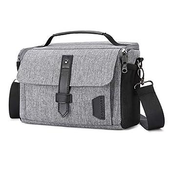 Camera Bag BAGSMART DSLR Camera Case Water Resistant Camera Gadget Shoulder Bag for Men and Women Gray