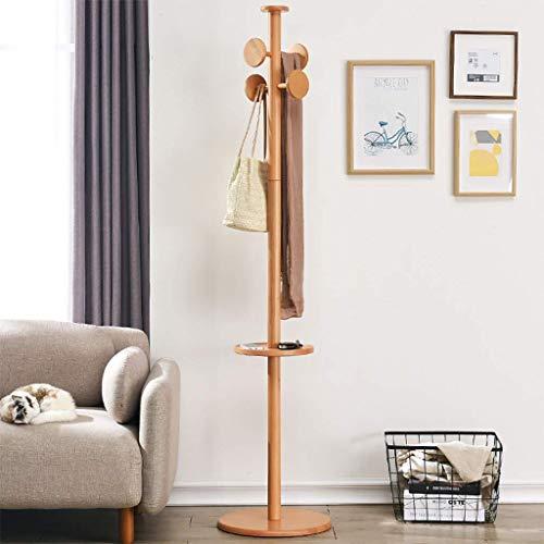 PIVFEDQX Wardrobe Furniture, Wardrobe Wardrobe, 4 Hooks Solid Wood Hat Wardrobe Heavy Hallway Wardrobe 180 * 40cm (Walnutt Color, Wood Color) (Color: B)