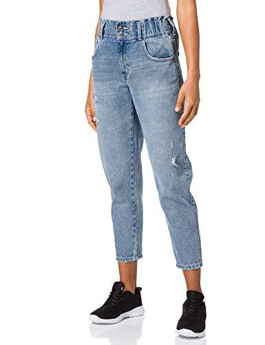 ONLY Damen ONLLU Life HW MB Carrot DNM DOT Jeans, Medium Blue Denim, 28/32
