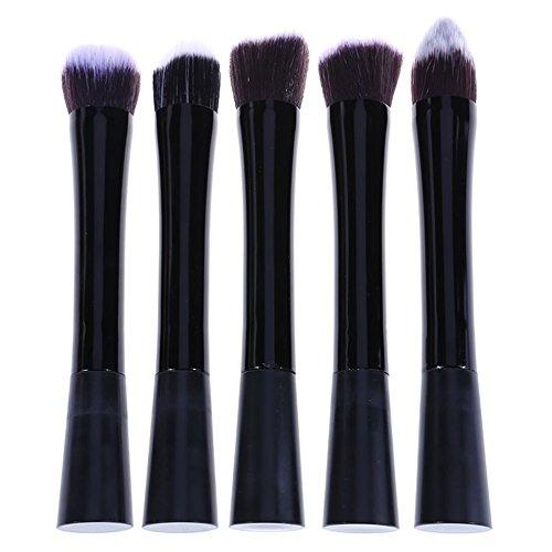 Domybest 5 pcs/Ensemble de pinceaux de maquillage Small-thin-waist Manche Noir Cosmétique Outil de maquillage