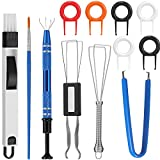 Keyboard Lube Switch Puller Kits Key Cap Remover Tools Mechanical Switch Opener for Mechanical Keyboard Removing Fixing Cleaning