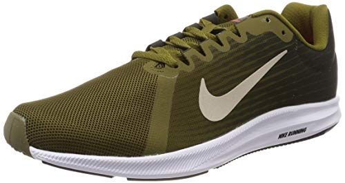 Nike Herren Downshifter 8 Laufschuhe, Grün (Olive Flak/String-Sequoia-Hyper Crimson 301), 45 EU