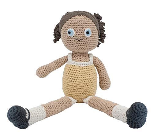Sebra - Häkel-Puppe - Anna - Baumwolle - handgefertigt - Höhe 40 cm