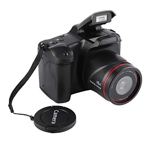 Fotocamera digitale HD, schermo da 2,4 pollici 720P 16MP Videocamera digitale con zoom 16X Videocamera, fotocamera digitale ricaricabile alimentata a batteria con luce di riempimento pieghevole