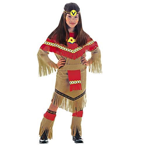 Widmann 36667- Ray of Moonlight disfraz de indio del salvaje oeste para niña, talla 8 - 10 años , 140 cm , color/modelo surtido