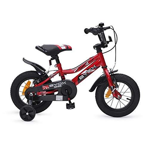 Byox Kinderfahrrad 12 Zoll Prince rot, Stützräder, Kettenschutz, sportlich