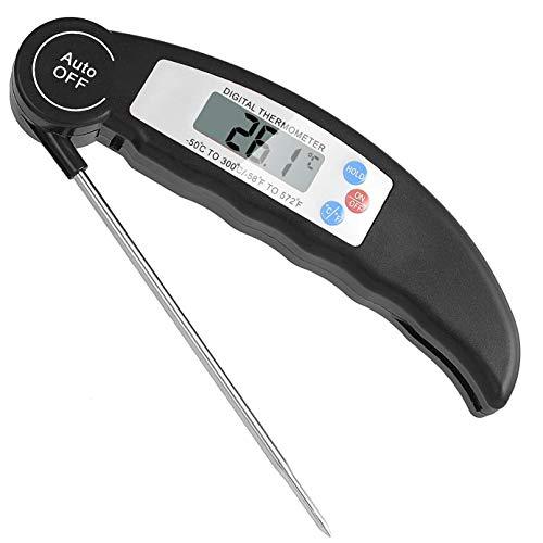 Digitales Kochthermometer, Thermometer mit hoher Genauigkeit mit langer Sonde, LCD-Bildschirm, Korrosionsschutz, ideal für Küche, BBQ, Milch