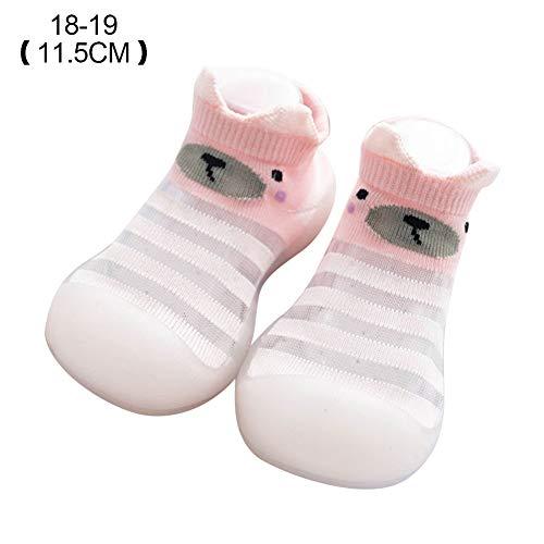 Scucs Atmungsaktive Babyschuhe Transparente Streifen Baby Kleinkind Walk Learning Socks Schuhe