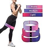 Beautifive Resistance Hip Bands 3er Pack, Fitnessbänder Gymnastikband Set, Loop Fitness Bänder...