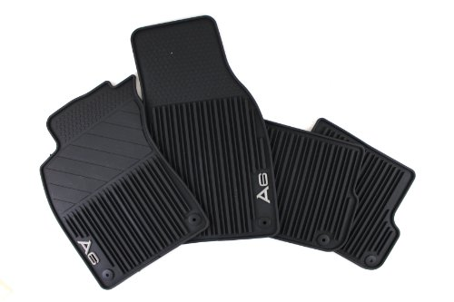 Genuine Audi Accessories 4F1061450A041 Black Front and Rear All-Weather Rubber Floor Mat for Audi A6, (Set of 4)
