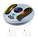 EMS Foot Circulation & TENS Nerve Muscle Stimulator 2 in 1(F.D.A.-Cleared) - Electronic Pulse Foot Massager Relieves Leg & Body Aches & Pains, Actively Increases Circulation