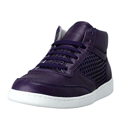 Dolce & Gabbana Women's Purple Leather Fashion Sneakers ShoesUS 9 IT 39 Dolce Sz 5.5