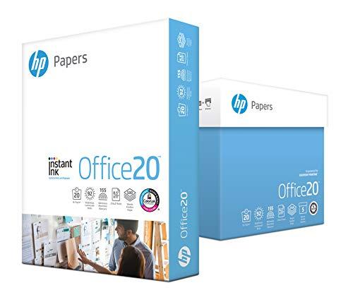 HP Printer Paper   8.5 x 11 Paper   Office 20 lb   5 Ream Case - 2500 Sheets   92 Bright   Made in USA-FSC Certified   112150C