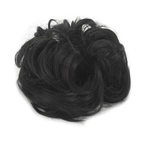 LHFLIVE Messy Hair Bun Extensions Curly Wavy Messy Synthetic Chignon Scrunchie Scrunchy Hairpiece Updo for women