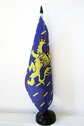 AZ FLAG Drapeau de Table Franche-Comté 21x14cm - Petit Drapeaux DE Bureau Franc-Comtois - Province 14 x 21 cm
